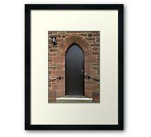 Vestry Door Upton Parish Church, Chester UK Framed Print