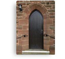 Vestry Door Upton Parish Church, Chester UK Canvas Print