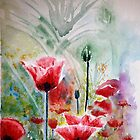 Poppy field by Lynn Hughes