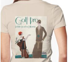 Woman golf pro, Vintage Art Deco Sport poster Womens Fitted T-Shirt