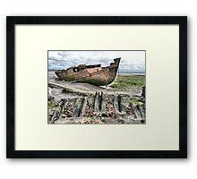 Fleetwood Wrecks Framed Print