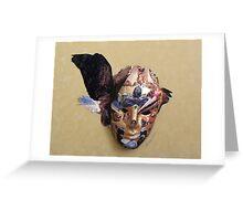 Winged Bird Mask Greeting Card