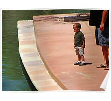 Little Boy with Daddy Poster