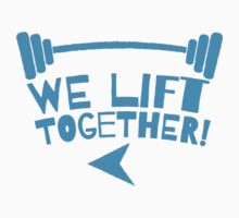 WE LIFT TOGETHER in blue Kids Clothes