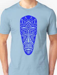 Tiki Mask - Blue T-Shirt