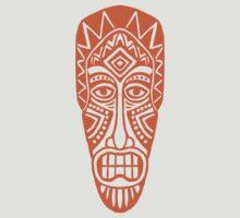 Tiki Mask - Orange by Artberry