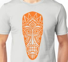 Tiki Mask - Orange Unisex T-Shirt