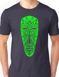 Tiki Mask - Green Unisex T-Shirt