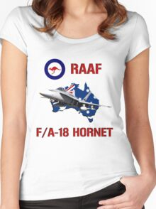 F/A-18 Hornet of the RAAF Women's Fitted Scoop T-Shirt