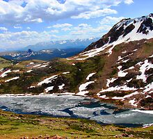 Alpine Lake - Beartooth Highway by Kam Johnson