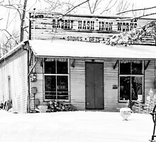 Rabbit Hash Iron Works B&W by Mary Carol Story