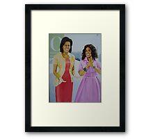 Oprah & Michelle Obama Framed Print
