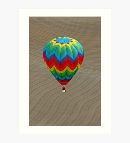 Lines, Curves, and Colors Art Print