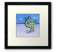 Bright Bird (in a dull world) Framed Print