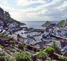 Polperro Harbour, Fishing Boats, Cornwall, UK. by johnrf