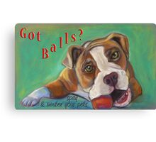 Bulldog - Spay/Neuter Canvas Print