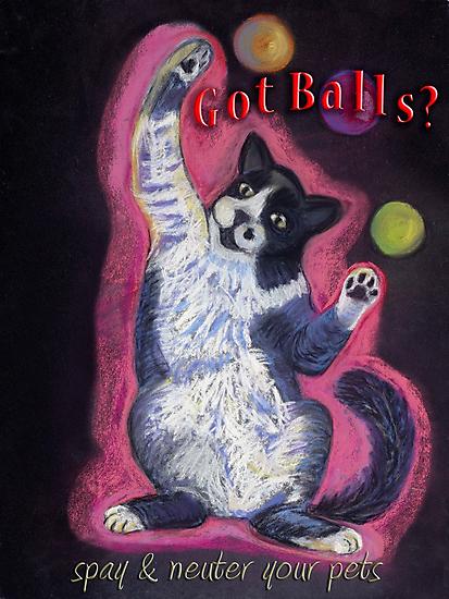 Juggling Cat - Spay/Neuter by Ann Marie Hoff