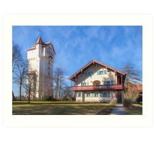 Grafenwoehr Water Tower Art Print