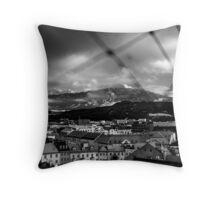 Mountain over Innsbruck Throw Pillow