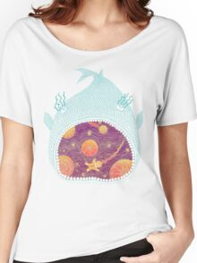 Cosmic Fish with Gingerbread Astronaut Women's Relaxed Fit T-Shirt