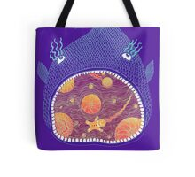 Cosmic Fish with Gingerbread Astronaut Tote Bag