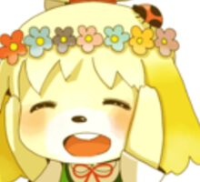 Cute Isabelle from Animal Crossing Sticker