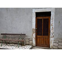 a seat at the door Photographic Print