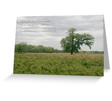 Alone with Jesus Greeting Card