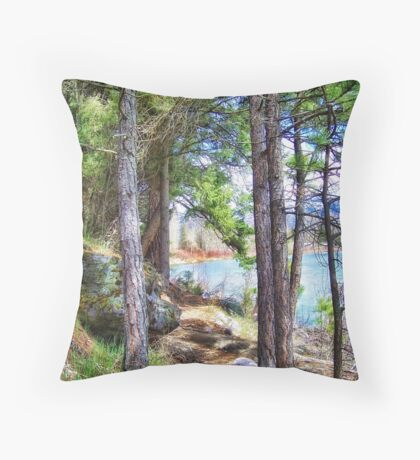Riverwalk Trail Throw Pillow