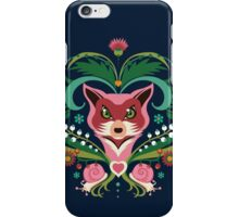 Pink FOX Portrait with Snails iPhone Case/Skin