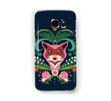 Pink FOX Portrait with Snails Samsung Galaxy Case/Skin