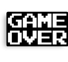 Gamer Over Canvas Print