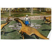 Do Not Feed the Velociraptors Poster