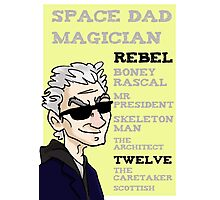 Rebel Timelord and other phrases - Twelfth Doctor Photographic Print