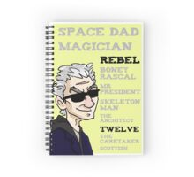 Rebel Timelord and other phrases - Twelfth Doctor Spiral Notebook
