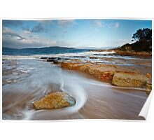 Fort Beach Rocks, Tasmania Poster