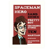Sand Shoes and other phrases - The Tenth Doctor Art Print