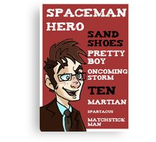 Sand Shoes and other phrases - The Tenth Doctor Canvas Print