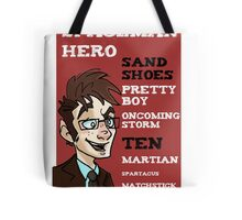 Sand Shoes and other phrases - The Tenth Doctor Tote Bag