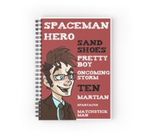 Sand Shoes and other phrases - The Tenth Doctor Spiral Notebook