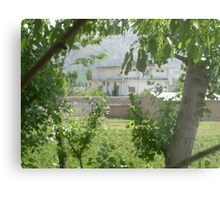 Pakistan- Al-Qaeda leader Osama bin Laden Compound  Metal Print
