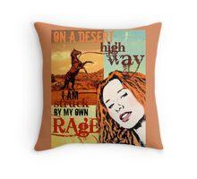 Fast Horse Throw Pillow