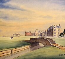 St Andrews Golf Course Scotland - 18th Fairway by bill holkham