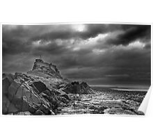 Storm over Lindisfarne - Holy Island Poster
