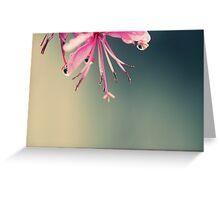 Japanese Flowers Greeting Card