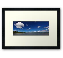 Blue Cloudy Sky Panorama Framed Print