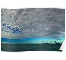Blue Cloudy Sky At Sea Poster