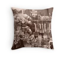 Bucket and Spade Time Throw Pillow