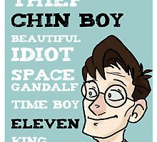 Chin boy and other phrases - Eleventh Doctor! by SashDoesDoodles