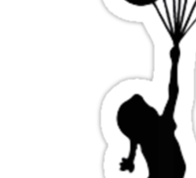 Balloon Girl Black Sticker